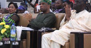 LCCI President Nike Akande(L) and Tunji Bello, Lagos SSG