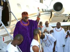 Oba of Benin lands in Abuja