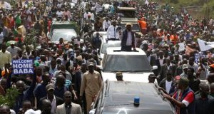 Mammoth Odinga supporters