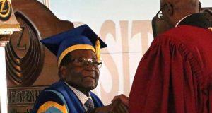Robert Mugabe appears in public