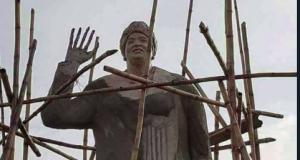Statue of Liberian President Ellen Johnson-Sirleaf