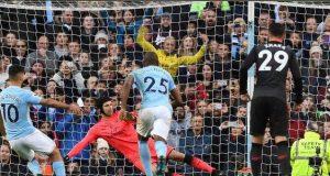 Sergio Aguero scores from spot kick