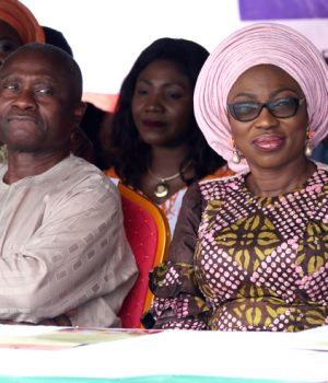 Lagos Health Commissioner, Jide Idris and Bolanle Ambode