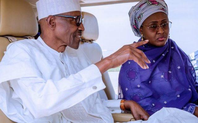 Buhari and wife, Aisha