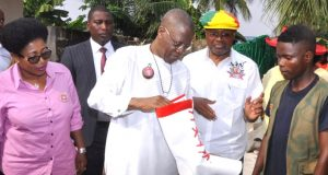 Information and Culture Minister, Lai Mohammed inspecting facilities ahead of the Calabar Carnival