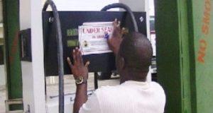 DPR official sealing filling station