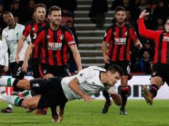 Dejan Lovren low header goal agains Bournemouth