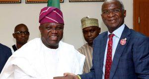 Gov. Ambode and Babatunde Fashola