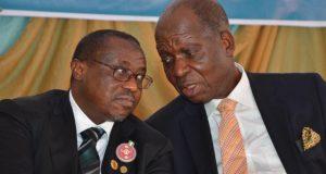 NNPC GMD Maikanti Buru and one of his predecessors, Jackson Gaius-Obaseki