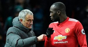 Jose Mourinho with Romelu Lukaku