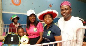 Mrs Ambode and others during the distribution of gifts