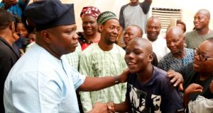 Gov. Ambode with children with special needs