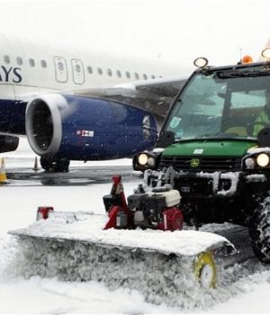 Snow at Heartrow Airport