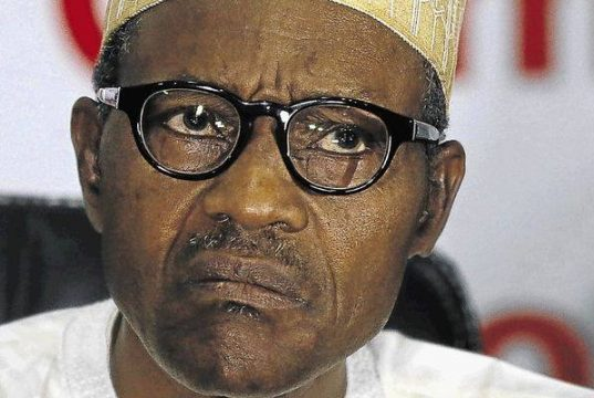 President Buhari in an angry mood
