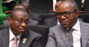NNPC GMD Maikanti Baru and Minister of State for Petroleum,Dr. I've Kachikwu