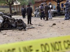 Scene of a Boko-Haram suicide attack in Maiduguri