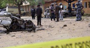 Scene of a Boko-Haram suicide attack in Maiduguri