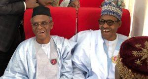 Gov. Nasir el-Rufai and President Buhari at the inauguration