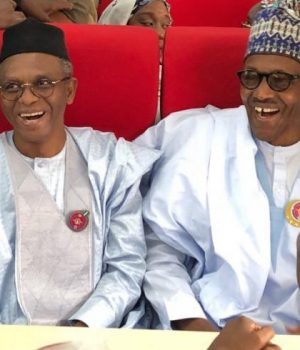 Gov. Nasir el-Rufai and President Buhari at the inauguration