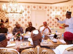 Buhari with APC Leaders