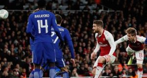 Arsenal beat Chelsea to hit Carabao Cup final