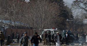 Scene of the bomb-laden ambulance that killed scores