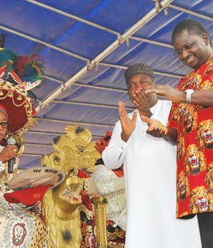 Igwe Cyprian Madu Nevobasi,Gov. Ugwuanyi of Enugu and Adesina