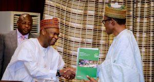NESG chairman, Bukar Kyari with President Muhammadu Buhari