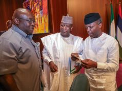 VP Osinbajo with Gov. Yari of Zamfara and other after the NEC meeting