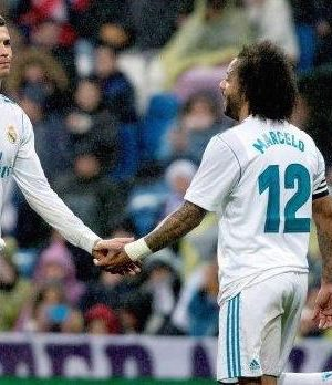 Ronaldo and Marcelo after the 0-1 loss to Villarea