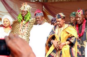 Gani Adams, Gov. Abiola Ajimobi and Alaafin of Oyo