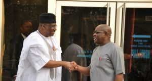 Lt. Gen. Dambazzau and Gov. Wike