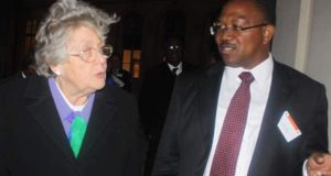Peter Obi (right), with Baroness Lynda Chalker(left) during discussions at the British House of Commons on Africa