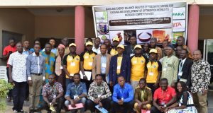 Participants at the Cassava processing workshop held at FUTA