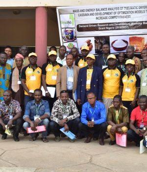 Participants at the Cassava processing workshop held at FUTA