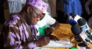 Obasanjo registering as member of CNM