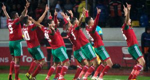 The victorious Moroccan team