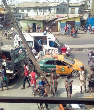 The scene of the accident in Mushin Lagos