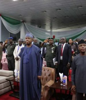 Osinbajo and Saraki at the National Summit on Security