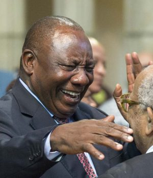 Cyril Ramaphosa ,president of the ruling African National Congress