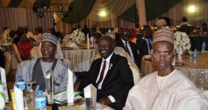 Magu with guests at the award ceremony