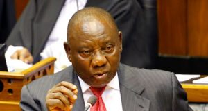 President of South Africa Cyril Ramaphosa