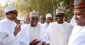 President Buhari with one of the APC governors
