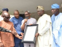Femi Gbajabiamila leads Lagos APC Reps to endorse Ambode