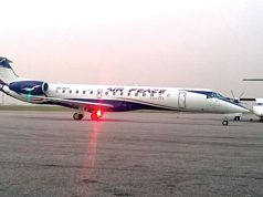 Air Peace aircraft at the Akure airport
