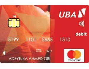 UBA Contactless card