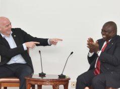 FIFA President Gianni Infantino with Gov. Ambode