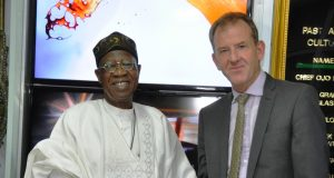 Lai Mohammed with MD of TVC Communications, Andrew Hanlon,