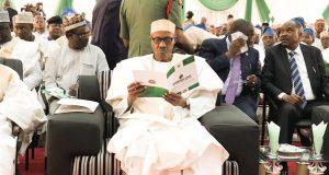 President Buhari at the Adamawa State Anti-Corruption Summit