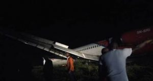 The Dana aircraft that overshot the runway in Port Harcourt